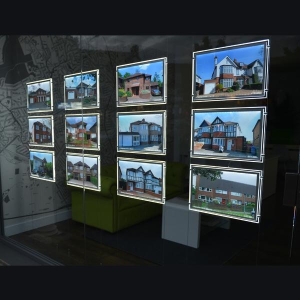 Real Estate Led Window Display Light Pocket